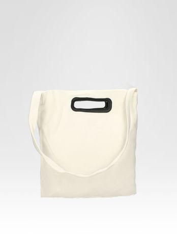 Biała torba shopper bag z printem                                  zdj.                                  4