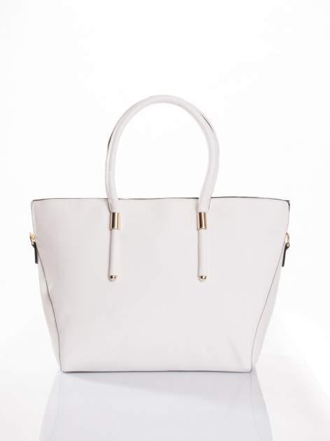 Biała torba shopper efekt saffiano                                  zdj.                                  1