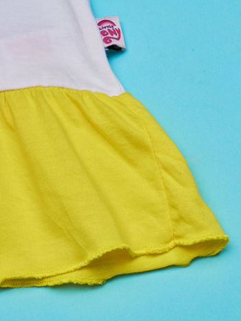 Biała tunika dla dziewczynki MY LITTLE PONY z kokardką                                  zdj.                                  6