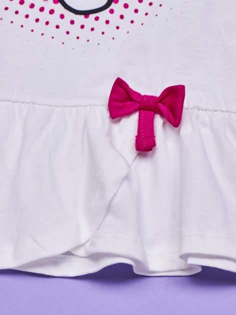 Biała tunika dla dziewczynki nadruk HELLO KITTY                                  zdj.                                  5