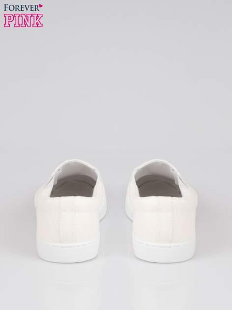 Białe buty sliponki glitter                                  zdj.                                  3