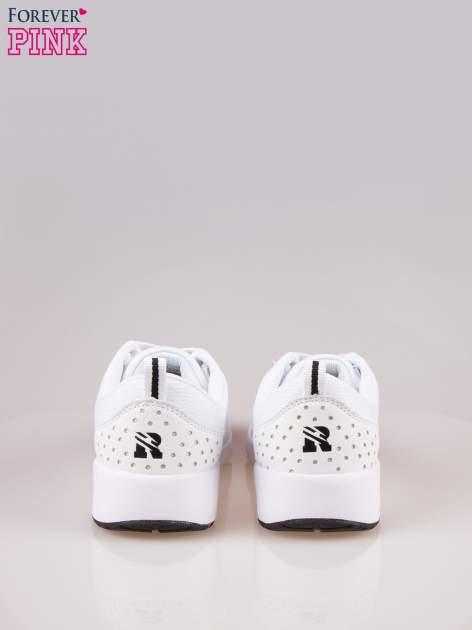 Białe buty sportowe damskie z siateczką i poduszką powietrzną w podeszwie                                  zdj.                                  3