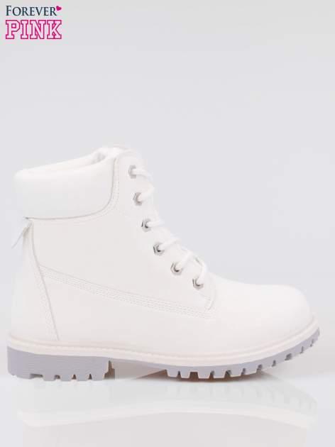 Białe buty trekkingowe damskie traperki Habbie                                  zdj.                                  1
