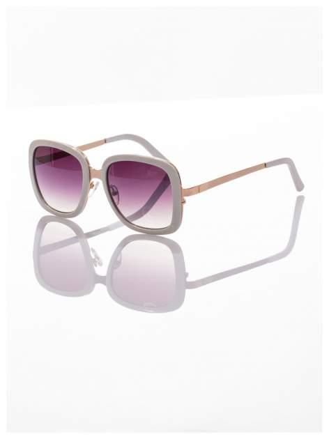 Białe eleganckie okulary