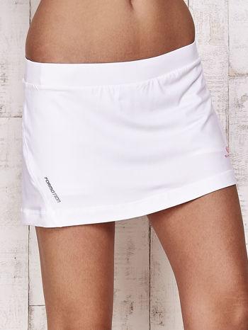 Białe gładkie spodenki spódniczka tenisowa                                   zdj.                                  4