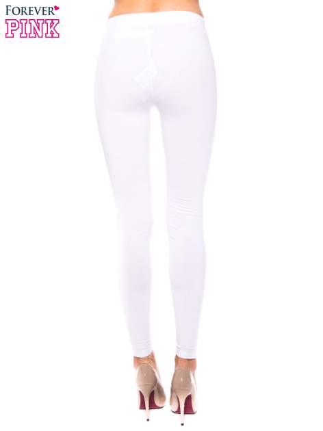 Białe legginsy z bawełny                                  zdj.                                  3