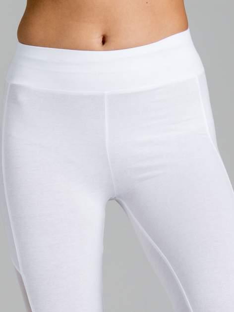 Białe legginsy z tiulową siateczką                                   zdj.                                  5