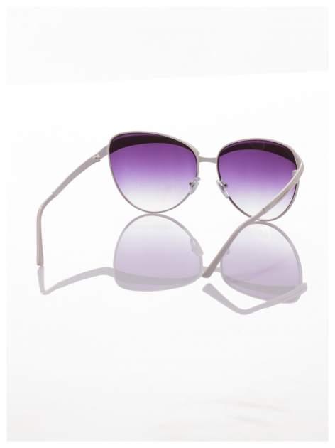 Białe okulary przeciwsłoneczne z cyrkoniami w stylu RETRO                                   zdj.                                  2