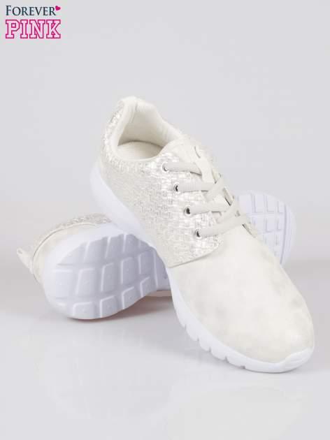 Białe plecione buty sportowe duo Split Up                                  zdj.                                  4