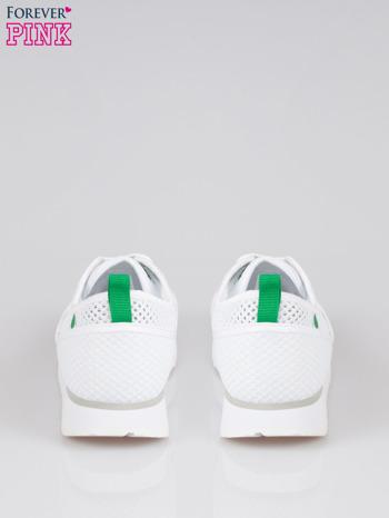 Białe siateczkowe buty sportowe textile High Level na platformie                                  zdj.                                  3