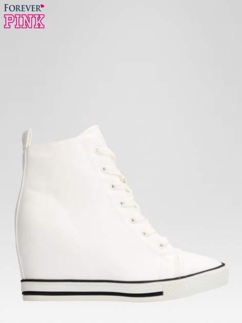 Białe skórzane sneakersy damskie