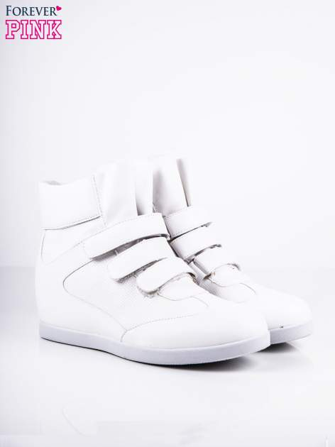 Białe sneakersy na rzepy                                  zdj.                                  2