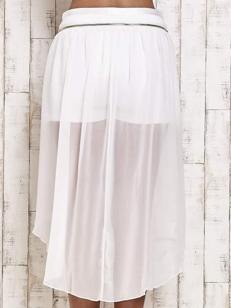 Białe spódnicospodnie z tiulowym trenem                                  zdj.                                  5