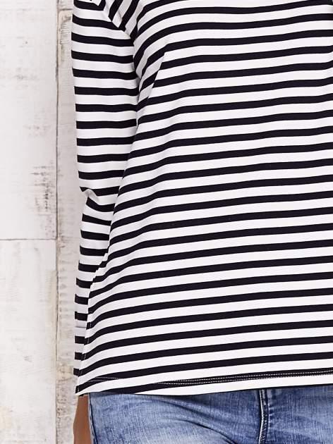 Biało-czarna bluzka w paski                                  zdj.                                  6