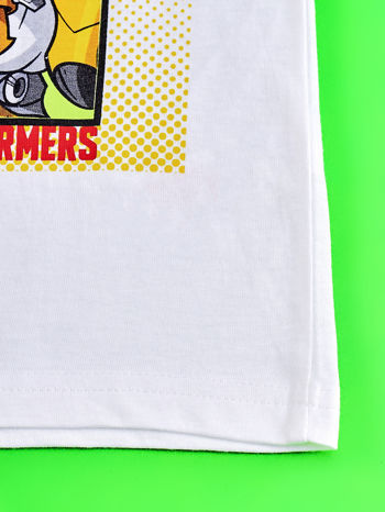 Biało-czerwony t-shirt chłopięcy z nadrukiem TRANSFORMERS                                  zdj.                                  5