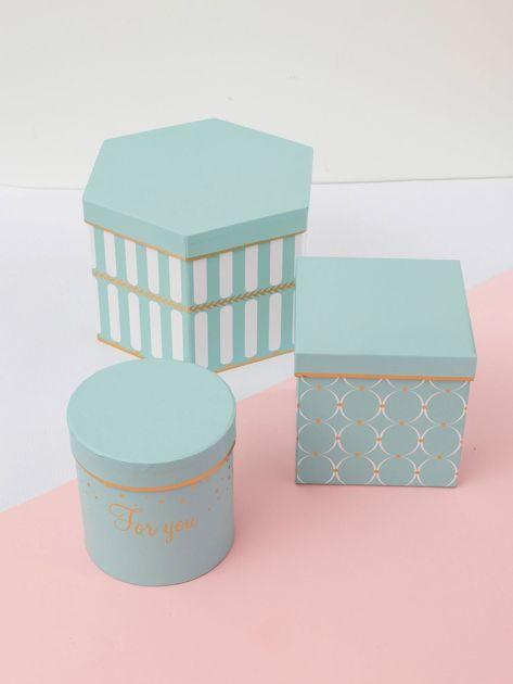Biało-miętowe pudełka do przechowywania 3w1                              zdj.                              2