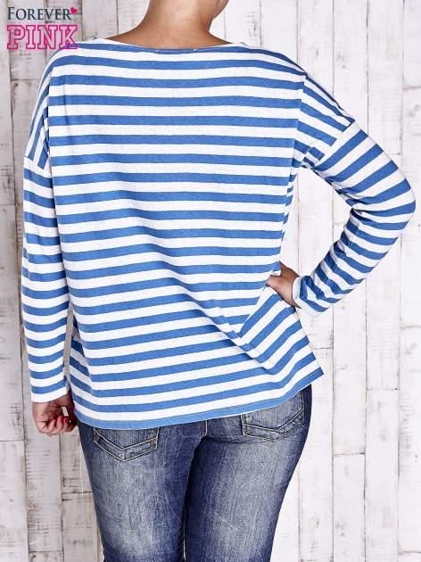 Biało-niebieska bluzka w paski PLUS SIZE                                  zdj.                                  2
