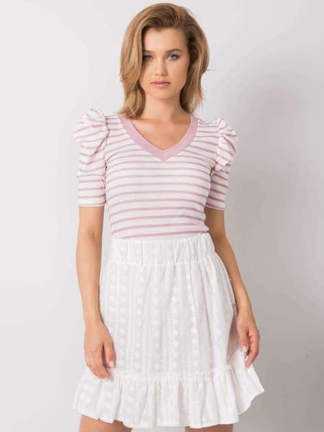 Biało-różowa bluzka w paski Marlo