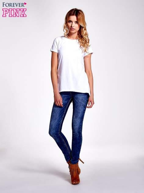 Biały jednolity t-shirt                                  zdj.                                  7