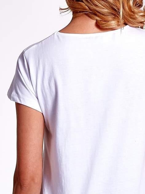Biały jednolity t-shirt                                  zdj.                                  6
