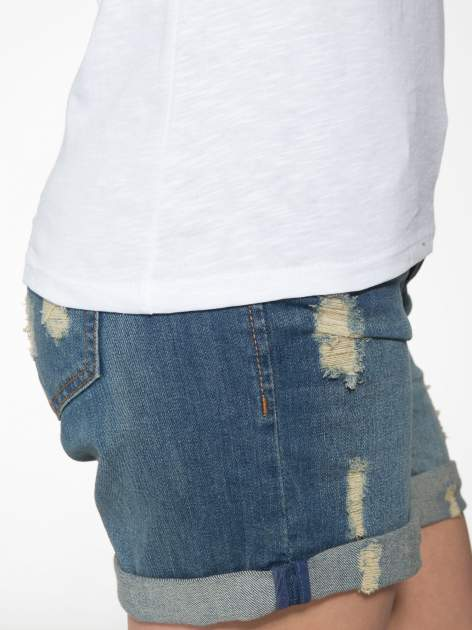 Biały półtransparentny t-shirt basic                                  zdj.                                  7