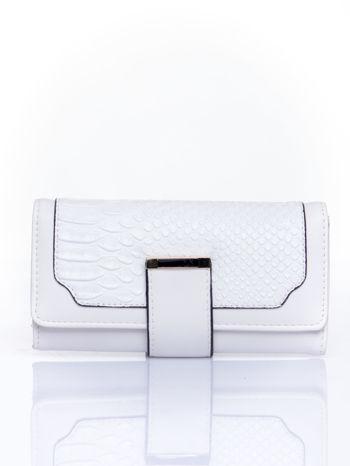 Biały portfel z motywem skóry aligatora                                   zdj.                                  1