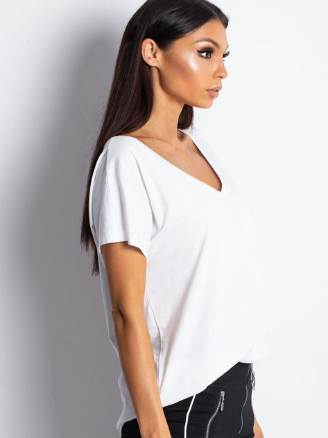 Biały t-shirt Emory                              zdj.                              3