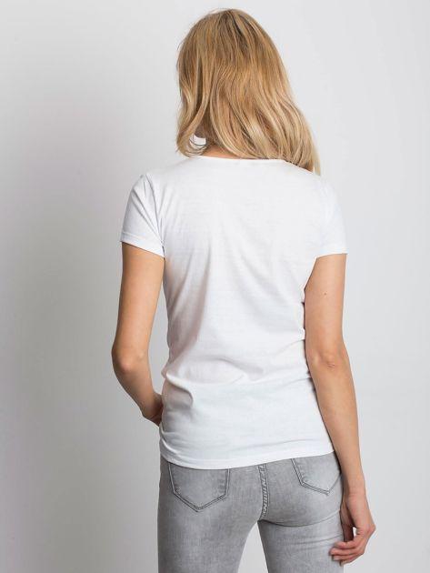Biały t-shirt NIE MÓW DO MNIE TERAZ                              zdj.                              2