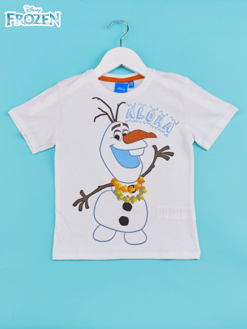 Biały t-shirt chłopięcy KRAINA LODU                                  zdj.                                  1