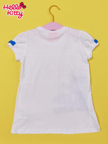 Biały t-shirt dla dziewczynki HELLO KITTY                                  zdj.                                  2
