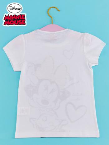 Biały t-shirt dla dziewczynki z cekinami MYSZKA MIKI                                  zdj.                                  2