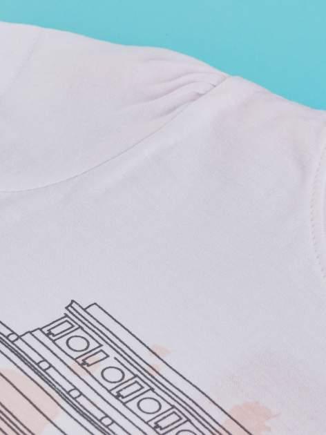 Biały t-shirt dla dziewczynki z motywem francuskim                                  zdj.                                  3