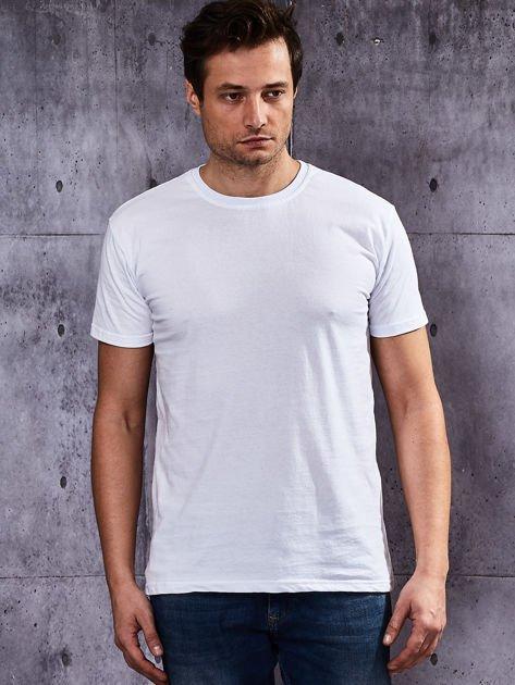 Biały t-shirt męski                               zdj.                              5