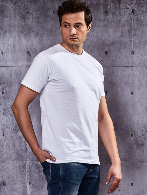Biały t-shirt męski                               zdj.                              4