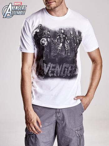 Biały t-shirt męski AVENGERS                                  zdj.                                  5