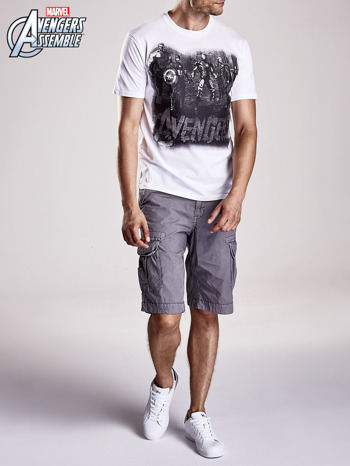Biały t-shirt męski AVENGERS                                  zdj.                                  6