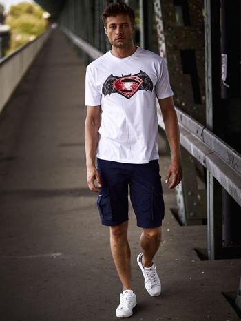 Biały t-shirt męski BATMAN V SUPERMAN                                  zdj.                                  16