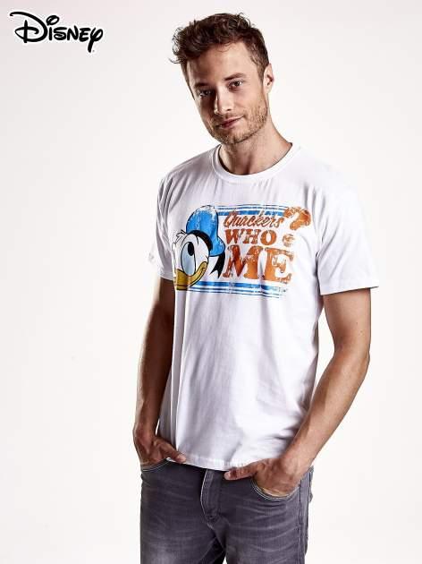 Biały t-shirt męski KACZOR DONALD                                  zdj.                                  2