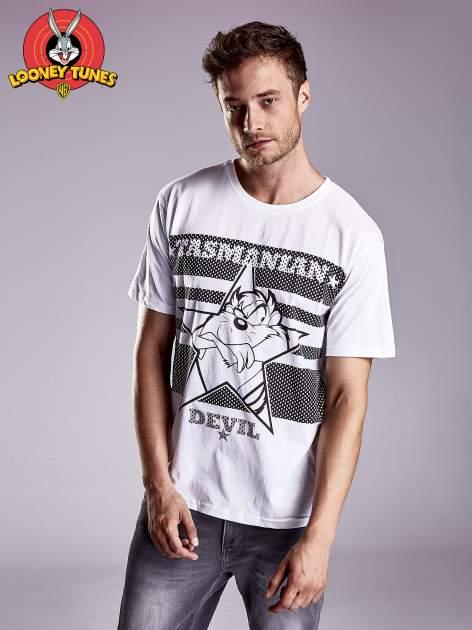 Biały t-shirt męski LOONEY TUNES                                  zdj.                                  2
