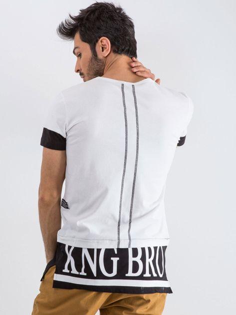 Biały t-shirt męski Narcos                              zdj.                              2