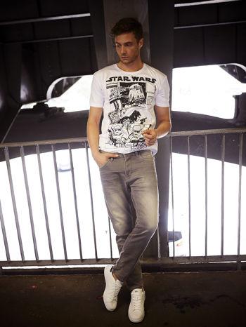 Biały t-shirt męski STAR WARS                                  zdj.                                  11