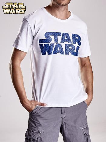 Biały t-shirt męski z nadrukiem STAR WARS                                  zdj.                                  5