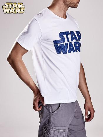 Biały t-shirt męski z nadrukiem STAR WARS                                  zdj.                                  3