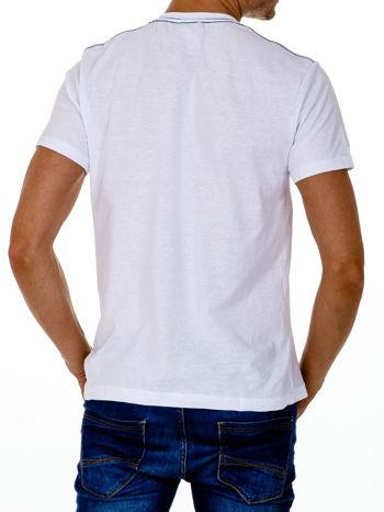 Biały t-shirt męski z nadrukiem napisów MIAMI FLORIDA 1955                                  zdj.                                  2