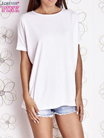 Biały t-shirt oversize                                  zdj.                                  1