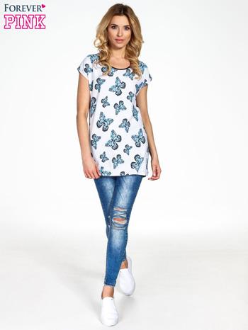 Biały t-shirt w motyle                                  zdj.                                  7