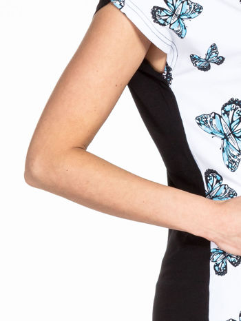 Biały t-shirt w motyle                                  zdj.                                  5