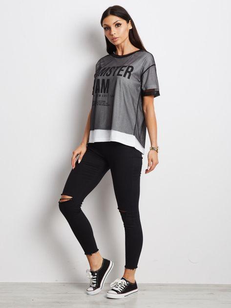 Biało-czarny t-shirt Citizen                              zdj.                              4