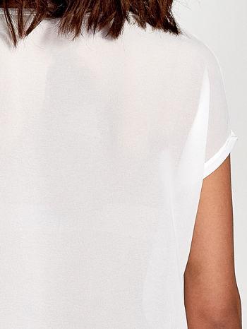 Biały t-shirt z kryształkami                                  zdj.                                  6