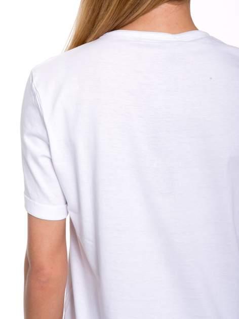 Biały t-shirt z nadrukiem HEROÉS IN PARIS                                  zdj.                                  9